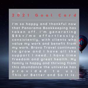 2021 Goal Card