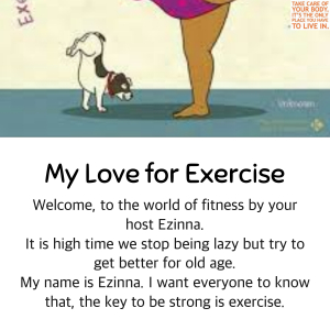 My Love for Exercise
